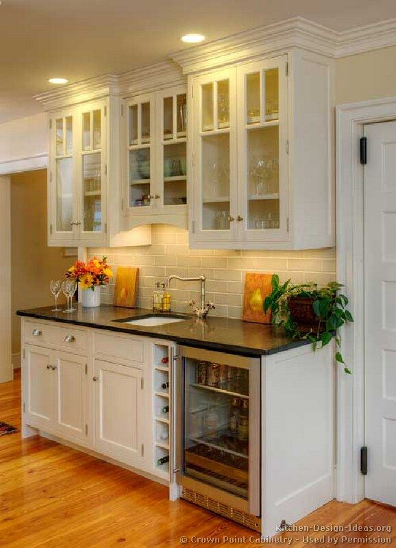wet bar picture ideas pictures of kitchens traditional white kitchen cabinets kitchen - Cabinet In Kitchen Design