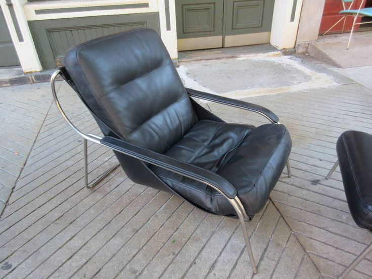 Exceptional View This Item And Discover Similar Lounge Chairs For Sale At   Maggiolina  Chair And Ottoman By Zanotta Designed By Marco Zanuso, Cowhide Sling  Supports ... Idea