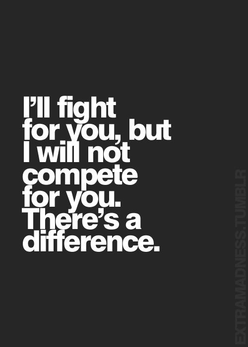 Hell yeah there is a difference! Especially if you are fighting for someone who wouldn't fight for you!
