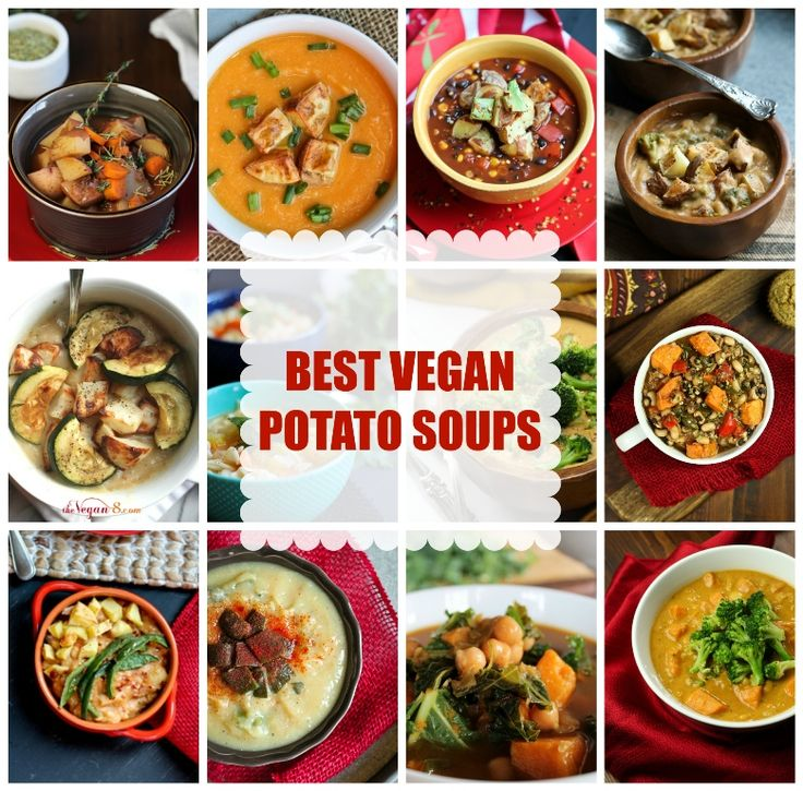Amazing roundup of the BEST vegan soup recipes featuring potatoes! All VEGAN, GLUTEN-FREE, OIL-FREE AND JUST 8 INGREDIENTS! via @thevegan8