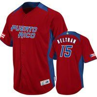 Majestic Puerto Rico Carlos Beltran 2013 World Baseball Classic Jersey (xlarge) by Majestic. $119.99. Embroidered graphics with tackle twill details. 100% polyester. Button down. Country flag on right sleeve. WBC logo on left sleeve. Take pride in your country at this year's World Baseball Classic by donning this Robinson Cano Jersey: Majestic Scarlet/Royal #24 2013 World Baseball Classic On-Field Team Dominican Republic Game Replica Jersey. Made by Majestic, this Team Dom...