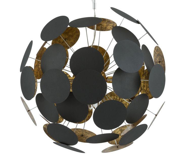 Ihr ganz privates Sonnensystem: Die Pendelleuchte PLANET lässt bei Ihnen zuhause die Sonne aufgehen. Die vielen runden Platten wirken wie glühende Himmelsgestirne und tauchen Ihren Raum in warmes, angenehmes Licht. Mit PLANET holen Sie sich ein ganz neues Lebensgefühl ins Haus, denn die Lampe ist eine Lichtquelle, die man nicht alle Tage sieht! Betören Sie Ihre Gäste mit dieser kunstvollen Lichtquelle im Wohn- oder Esszimmer!