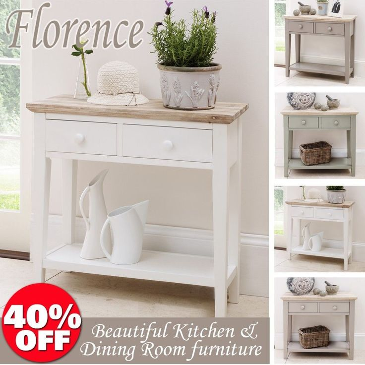 Florence Console Table. Stunning kitchen hall table, 2 drawers and shelf, W:82cm in Home, Furniture & DIY, Furniture, Tables   eBay
