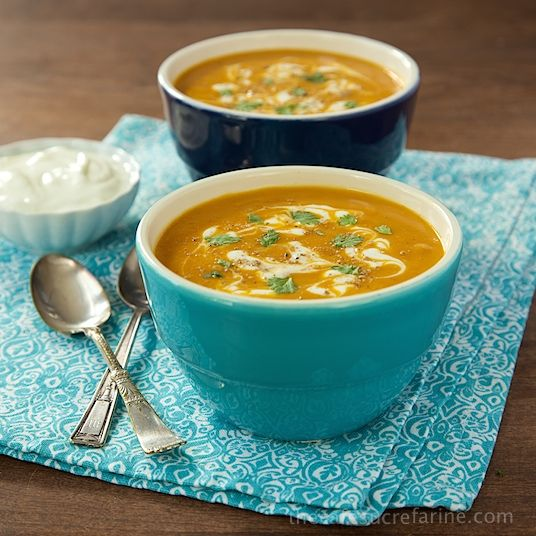 Sweet Potato Coconut Curry Soup - Silky smooth and loaded with flavor, this Thai-inspired soup is also super healthy!
