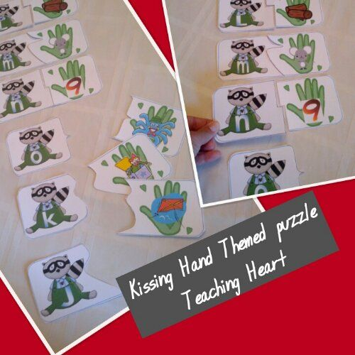 Witty image pertaining to kissing hand printable book