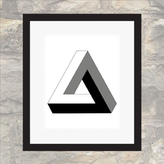 Penrose Triangle  Impossible Geometries  Wall by paper4download