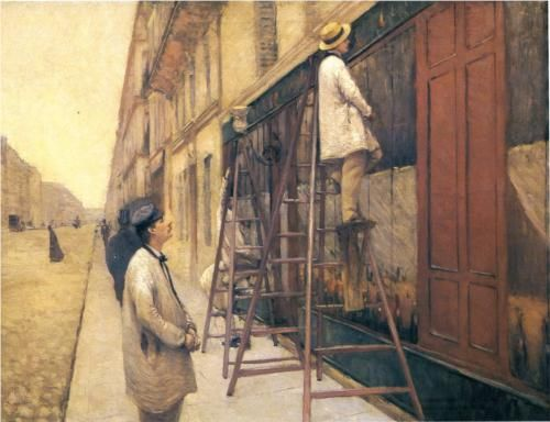 The House Painters - Gustave Caillebotte, 1877, private collection