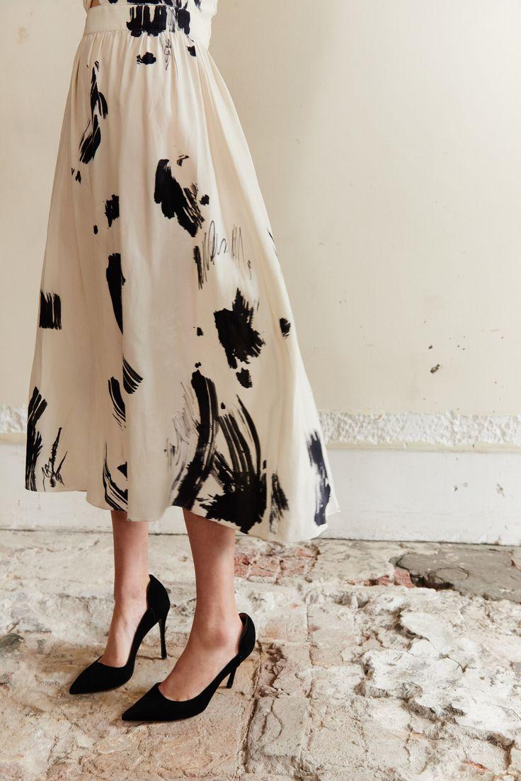 Kamperett Compass Hand Painted Silk Knot Dress