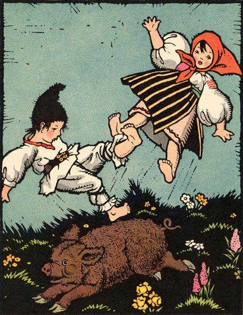 Maud & Miska Petersham illustration - ''The Magic Doll of Roumania''