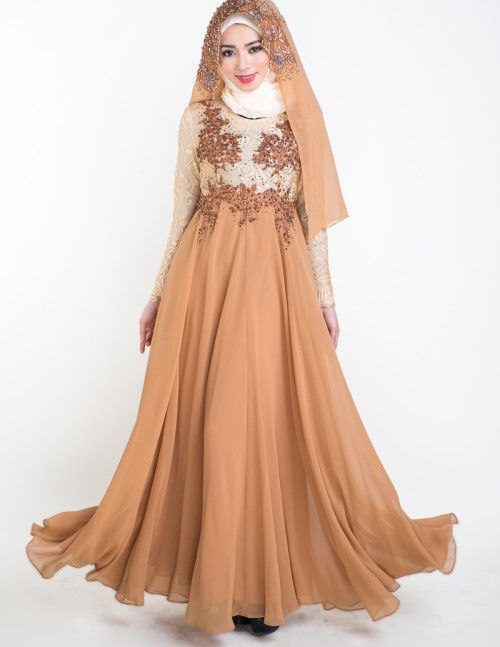 Esmeralda Wedding Dress - Brown