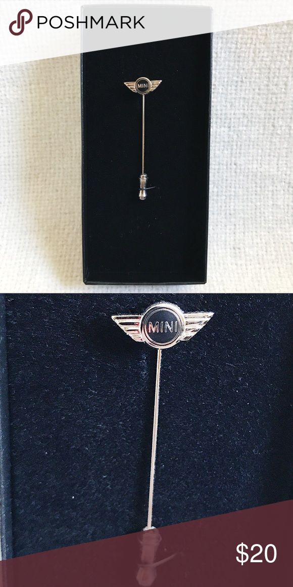 """Mini Cooper Decorative/Lapel Pin This unisex pin can be used on purses, lapels, hats, scarves, clothing, etc.  Authentic Mini Cooper merchandise purchased at Mini Cooper dealership.  Measurements: Approx. 2"""" long  Please don't hesitate to ask any questions before purchasing - I want you to be happy with your purchase! 🙂 Mini Cooper Accessories"""