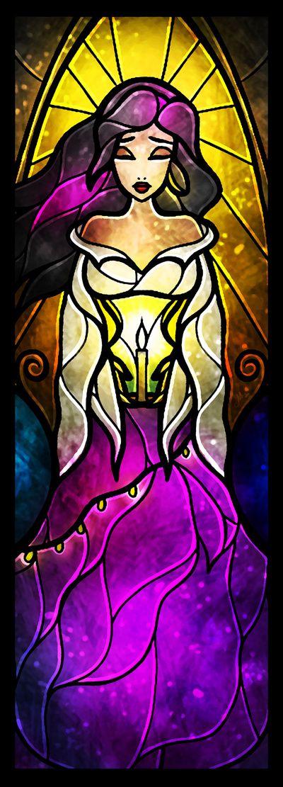 """""""A Gypsy's Prayer"""" Esmerelda Stained Glass Art"""