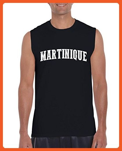 Ugo What to do in Martinique? Travel Time Flag Map Guide Flights Top 10 Things To Do Ultra Cotton Sleeveless Men's T-Shirt - Cities countries flags shirts (*Partner-Link)