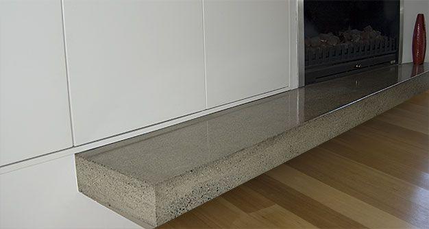 Custom concrete image house ideas pinterest concrete for Concrete mantels and hearths
