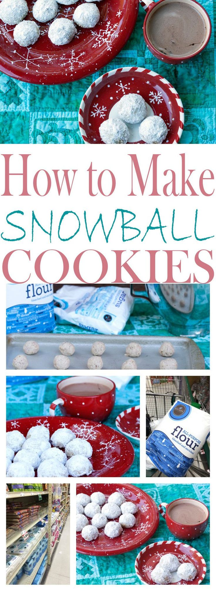 How to Make Snowball Cookies- a Time Honored Holiday Tradition with a peppermint candy cane twist. This is one cookie you'll want to gobble up.