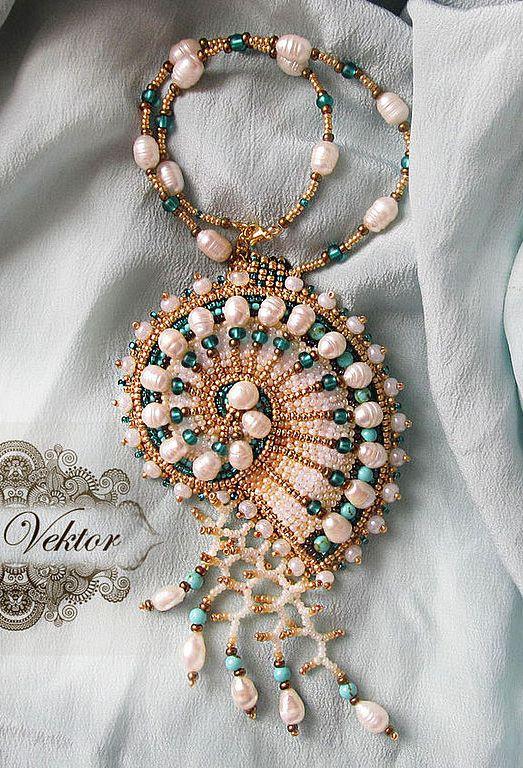 "03.09.2014 Работа дня: Кулон ""Наутилус"". Jewellery, but an excellent embellishment idea."