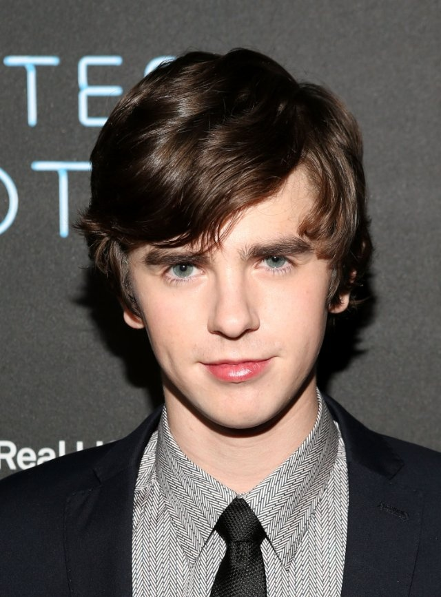 "Freddie Highmore...he's so awkward and adorable.  He's phenomenal in Bates Motel as ""Norman""..."