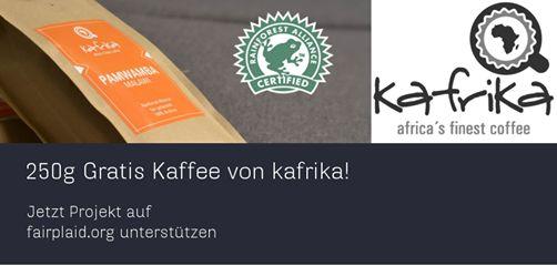 250g gratis Kaffee von kafrika - da startet man doch gern in die neue Woche  https://www.fairplaid.org/Gutscheine/Gutschein-Detail/vid/123  #fairplaid #gutscheine #kafrika