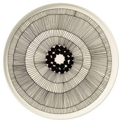 Assiette Siirtolapuutarha / Ø 25 cm Siirtolapuutarha - Blanc & noir - Ø 25 cm - Marimekko - Décoration et mobilier design avec Made in Design