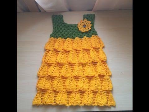 DIY Ropa bebé: Cómo hacer vestido de bebé niña muy fácil (patrón en varias tallas incluido). Despliega la descripción para obtener toda la información!!! DES...