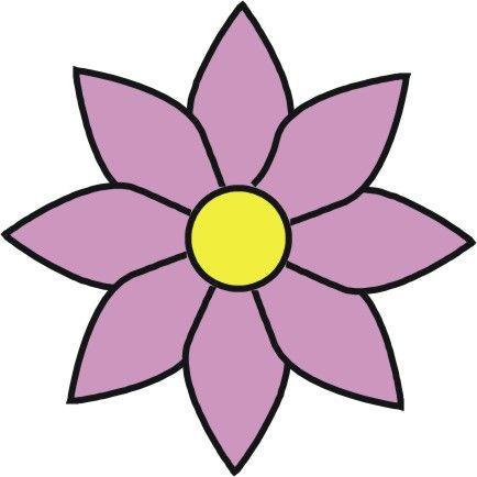 Purple Cartoon Flower Clipart cartoon/flowers - Goog...