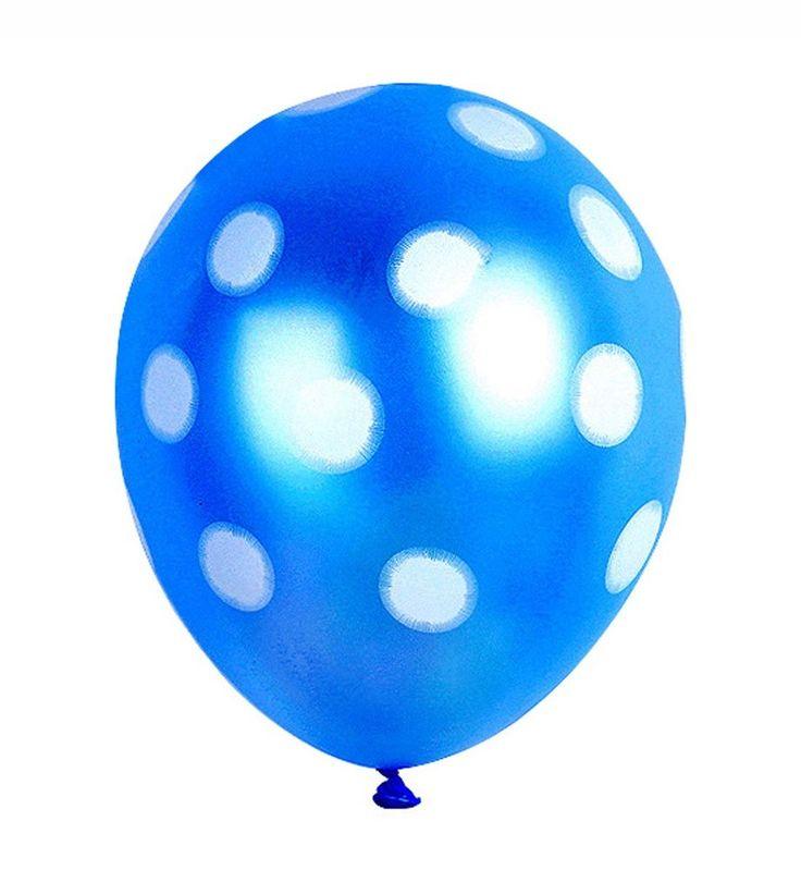 50X Polka Pearl Blue dot Latex Balloons Baby Shower Birthday Party decorations #Sempertex #BirthdayChild