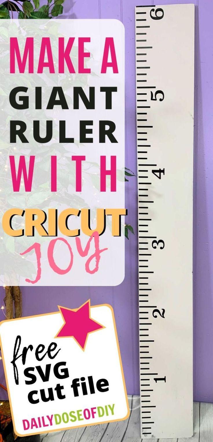 DIY Growth Chart Ruler with Cricut Joy in 2020 Growth