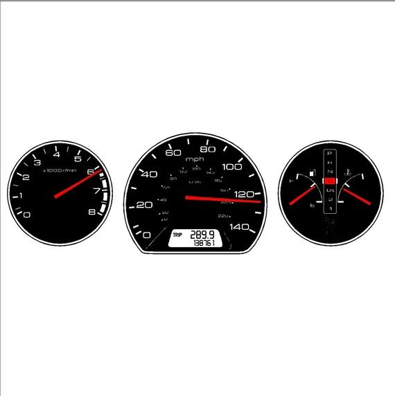 Auto Car Dashboard Gauges Wall Decal Removable Auto Gauge