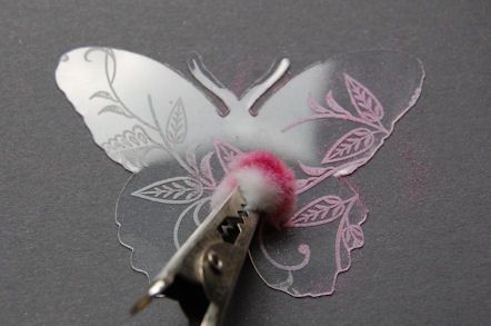 cute way to embellish acetate shapes