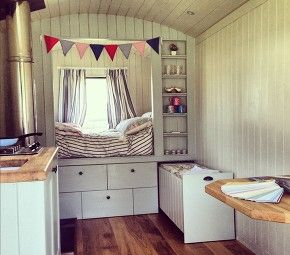 bespoke shepherds hut interior