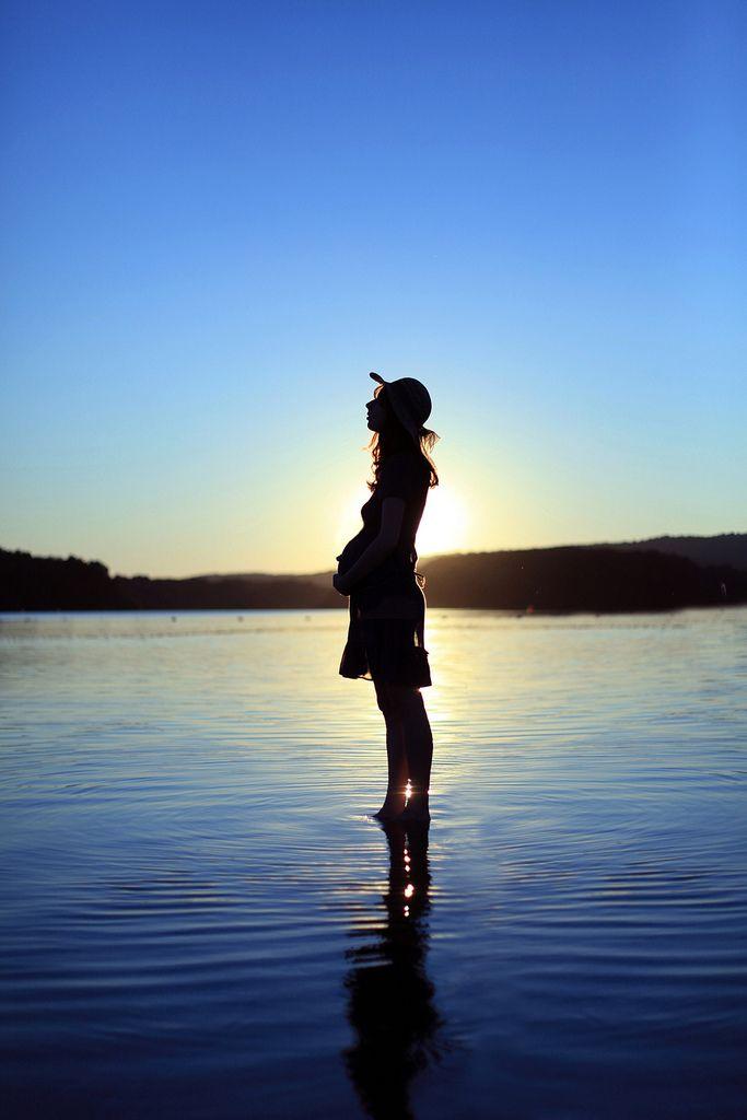 Beautiful sunset silhouette