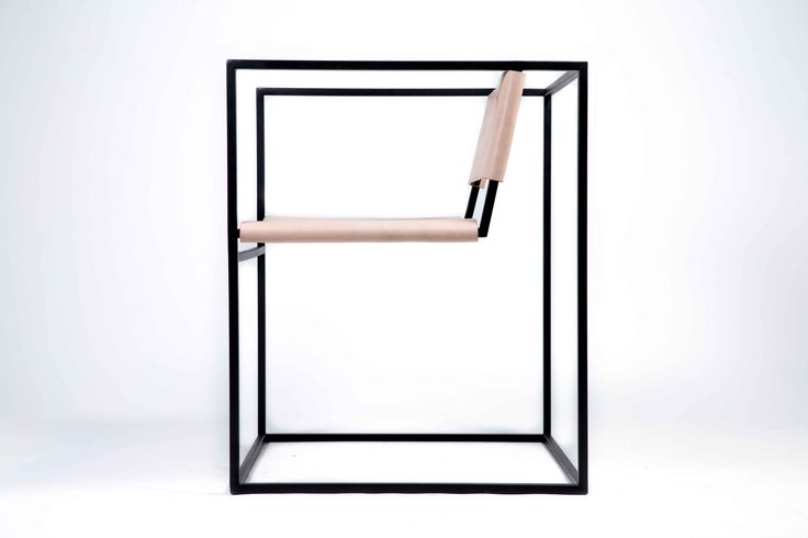 Albert Lounge Chair. Stainless Steel powder coated frame with full grain vegetable tanned leather upholstery.