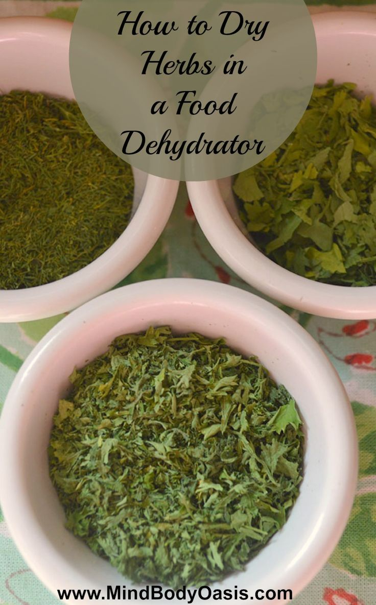 How to Dry Herbs in a Food Dehydrator  - great for when you have way too many!