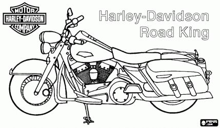 free harley davidson coloring pages - photo#15
