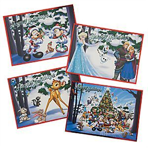 Disney Parks Storybook Card Set | Disney Store Send your friends a Happy Holiday message in one of these festive Disney cards. The Storybook set of 16 cards and envelopes includes four different designs so there will always be one that's just perfect.