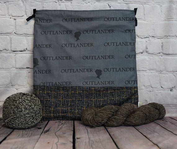 Outlander  Knitting Project Bag Crochet Project Bag Yarn