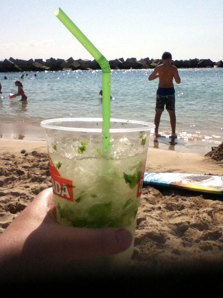 Mojitos from the beach bar at Playa