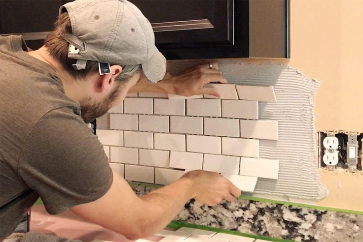 Never tiled before? Installing a subway tile kitchen backsplash is one of the easiest places to start, so we added this one in just a few hours and $200.