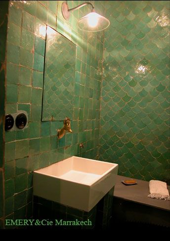 Loving the soft green colour. Perfect for a bathroom with no windows