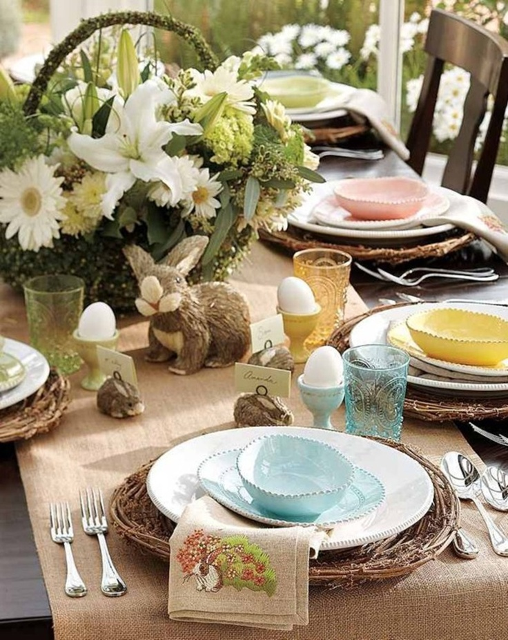 Elegant easter tablescapes easter pinterest for Elegant easter table decorations