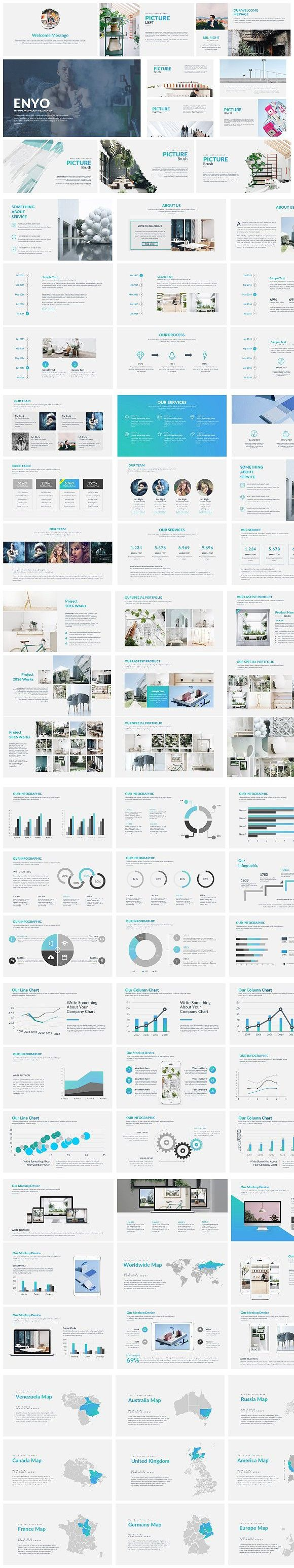 Enyo Creative Powerpoint Template. Infographic Templates. $15.00