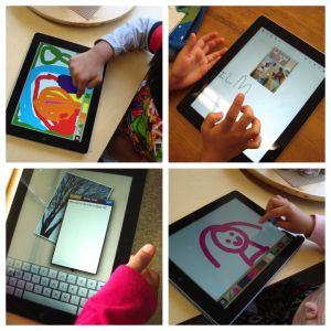 "crayons, wands & building blocks"" Apps to use with young children ("",)"
