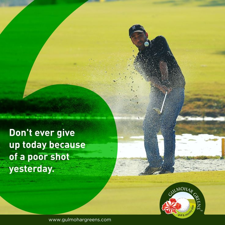 #GolfQuote  Beat back your yesterday's shot with today's finest one.