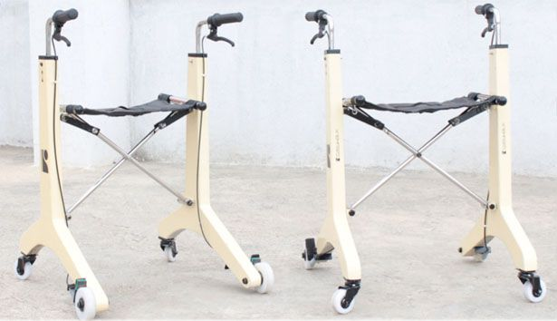 This concept walker is a design submission from Parasuraman Kannan, it features adjustable height for proper posture and ergonomic handlebars.
