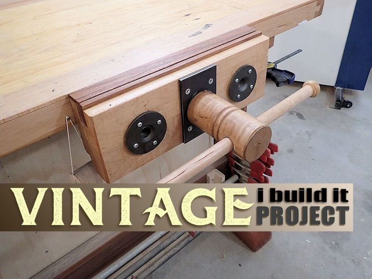 Make your own quick-release woodworking vise.