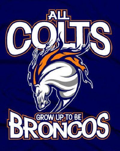Denver Broncos Shirt Peyton Manning Jersey All Colts Grow Up Broncos | eBay