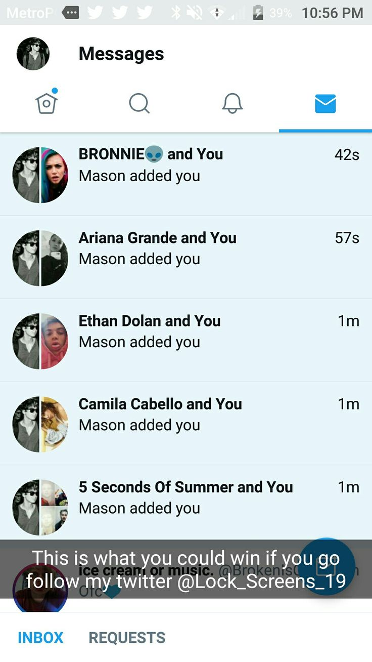 Hi guys! If you go and follow my twitter account @Lock_Screens_19 you could win these dms! I will be giving them away once I reach 100 followers and um currently at 70!