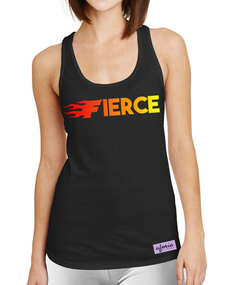 Fierce Fire Womens BLACK Gymvest Vest Fashion Slogan Workout U58 by SaveThePeople2016 on Etsy