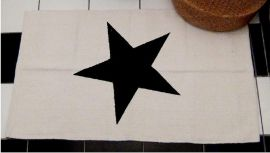 Vloerkleed Ster - wit/zwart   Accessoires   At Home Living