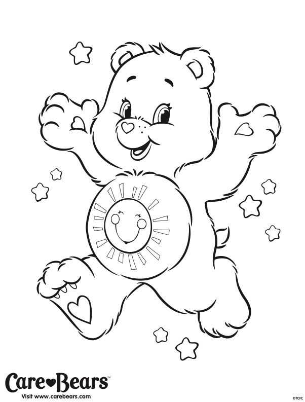 birthday care bear coloring pages - 54 best images about care bear funshine bear 4 on pinterest